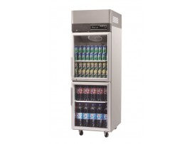 Turbo Air Stainless Steel Upright Display 2 half size Glass Door Austune