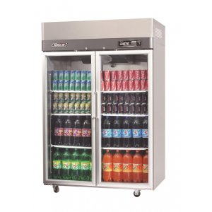 Turbo Air Upright Display Fridge 2 Glass Doors 1215L Austune
