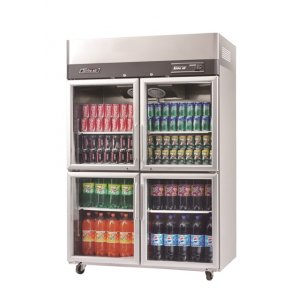 Turbo Air Upright Display Fridge 4 Half Glass Doors 1210L Austune