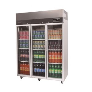 Turbo Air Stainless Steel Upright Display Fridge 3 glass Austune