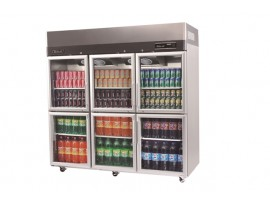 Turbo Air Stainless Steel Upright Display Fridge 6 glass Austune