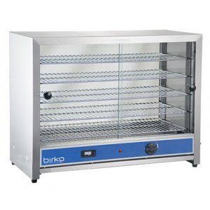 Birko 100 Pies Food Warmer, Glass Doors