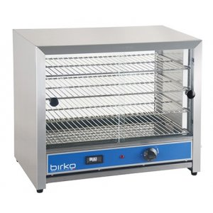 Birko 50 Pies Food Warmer, Glass Doors