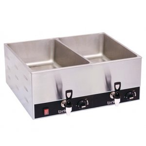 Birko Bain Marie Double With Drain Taps (No Pans)