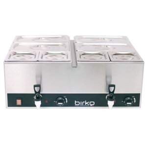 Birko Bain Marie Double With Drain Taps (With Pans)