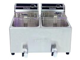 Birko Double Basket 8L Electric Fryer with Drain Taps