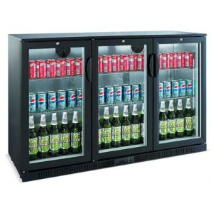 Bromic Back Bar Glass Three Door Chiller 330L