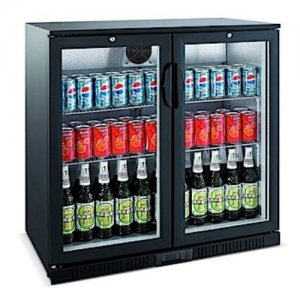 Bromic Back Bar Glass Two Door Chiller 190L