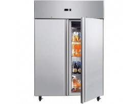 Double Solid Door Gastronorm Stainless Steel 1300L UC1300SD Bromic