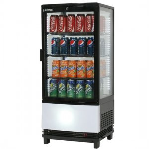 Bromic Black Curved Glass Counter Top Chiller 82L (CT0080G4BC)