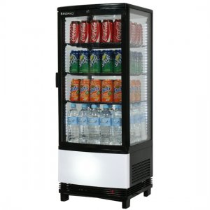 Bromic Black Glass Counter Top Chiller 100L (CT0100G4BC)