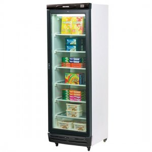 Glass Door Static Freezer 300 litres UF0374S Bromic