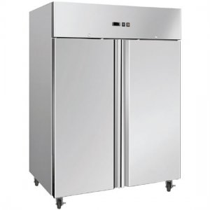Double Solid Door Gastronorm Stainless Steel Freezer 1300L UF1300SDF Bromic