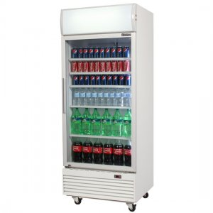Bromic Glass Single Door Merchandiser Display With Lightbox 660L