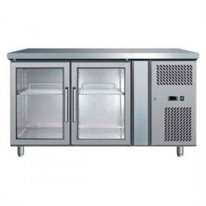 Under Counter Chiller Fridge 2 glass doors 282L UBC1360GD Bromic