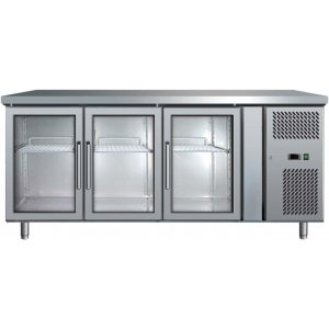 Under Counter Chiller Fridge 3 glass doors 417L UBC1795GD Bromic