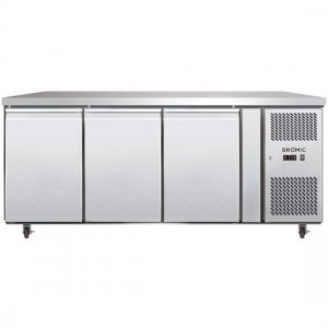 Under Counter Chiller Fridge 3 solid doors 417L UBC1795SD Bromic