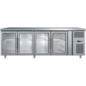 Under Counter Chiller Fridge 4 glass doors 553L UBC2230GD Bromic
