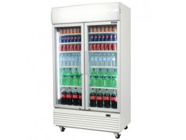 Bromic 2 Door Merchandiser Display With Lightbox 1000L (GM1000LED)
