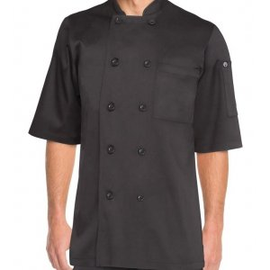 Chambery Black Chef Jacket Medium