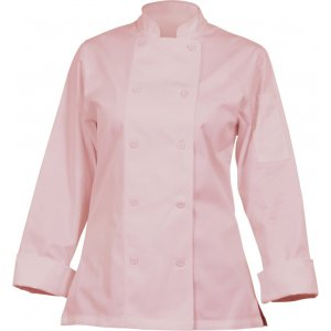 Marbella Womens Chef Coat Pink Large