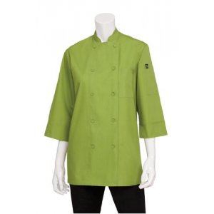 Chef Jacket Lightweight 3/4 Sleeve Lime Medium