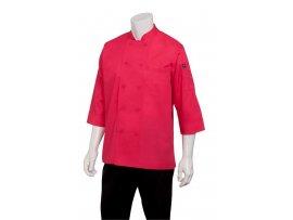 Chef Jacket Lightweight 3/4 Sleeve Berry - Large