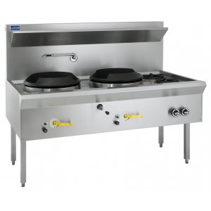 Wok 2 chimney burners 2 burners WL-2C2B LUUS
