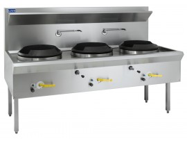 Wok 3 chimney burners air cooled WL-3C LUUS