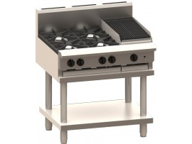 Cooktop 4 Burner 300 bbq and shelf  BCH-4B3C LUUS