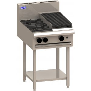 Cooktop 2 Burner 300 bbq and shelf BCH-2B3C LUUS