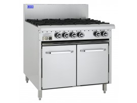 6 Burner Range and oven 900mm wide CRO-6B LUUS