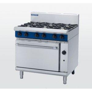 6 Burner Static Gas Oven 900mm (Blue Seal G506D)
