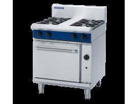 4 Burner Static Gas Oven 750mm (Blue Seal G505D)