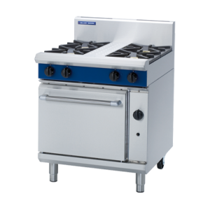 4 Burner Static Gas Oven 750mm (Blue Seal G505D)