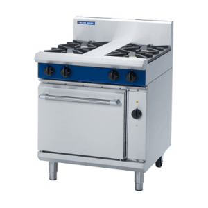 4 Burner Electric Convection Oven 750mm (Blue Seal GE54D)