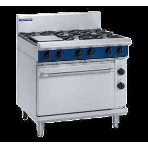 6 Burner Electric Static Oven 900mm (Blue Seal GE506D)