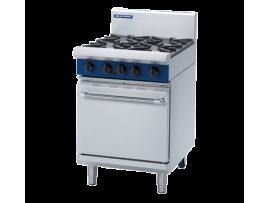 4 Burner Static Gas Oven 600mm (Blue Seal G504D)