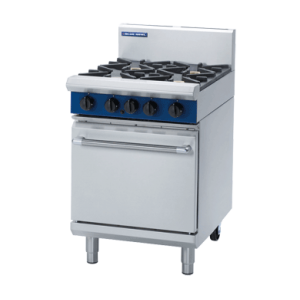 4 Burner Static Gas Oven 600mm (Blue Seal G504D)