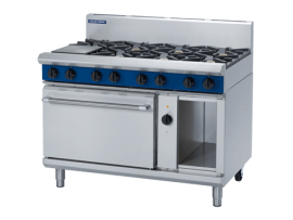 8 Burner Convection Oven Elec GE58D/C/B/A 1200mm wide Blue Seal Moffat