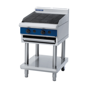 Gas Chargrill 600mm on Leg Stand (Blue Seal G594-LS)