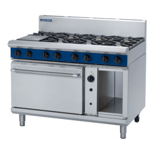 8 Burner Convection Gas Oven 1200mm with Griddle, Burners or Combo (Blue Seal G58D)