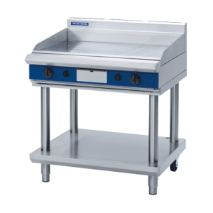 Gas Griddle 900mm with Leg Stand (Blue Seal GP516-LS)