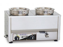 Roband Bain Marie with 2 Round Pots