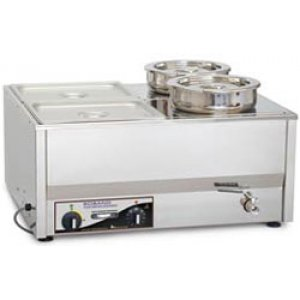 Roband Bench Top Bain Marie with 4 Round pots