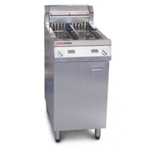 Austheat Fryer, Floor Model, Twin Pan 2x14L,15kW