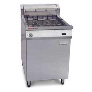 Austheat Fryer, Floor Model, Single Pan 39L,3 baskets