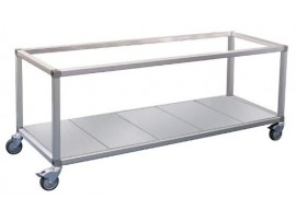 Double Row Food Display Bar / Bain Marie Trolley x 2 pans Roband ET22