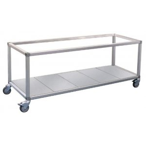 Double Row Food Display Bar / Bain Marie Trolley x 4 pans Roband ET24