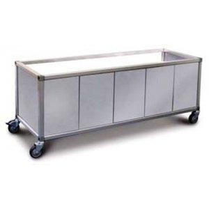 Trolley Panels Double Food Display Bar / Bain Marie x 2 pans Roband ETP22
